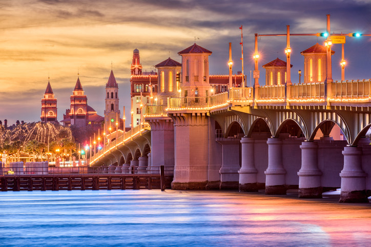 Spanish-inspired bridge in St. Augustine