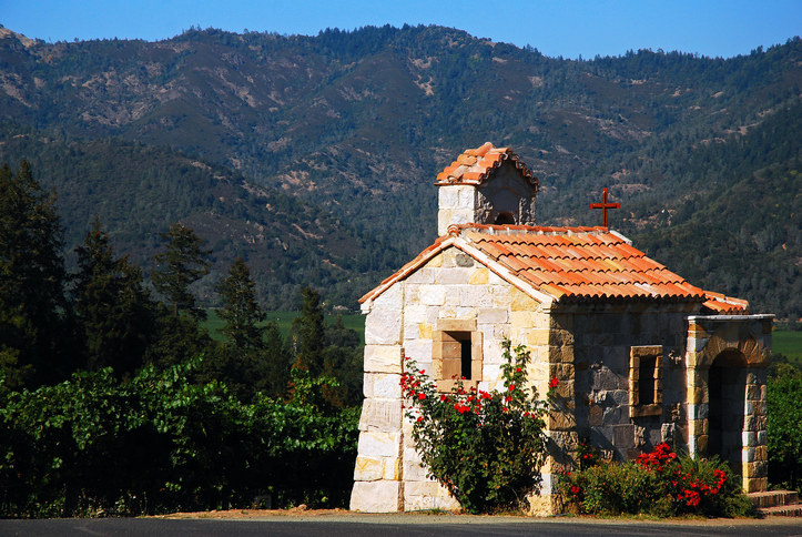 Small stone home overlooking Napa countryside