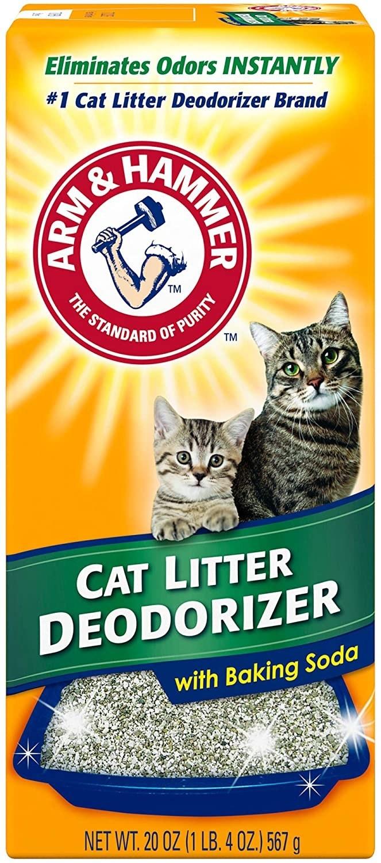 Orange Arm & Hammer cat litter deodorizer packaging