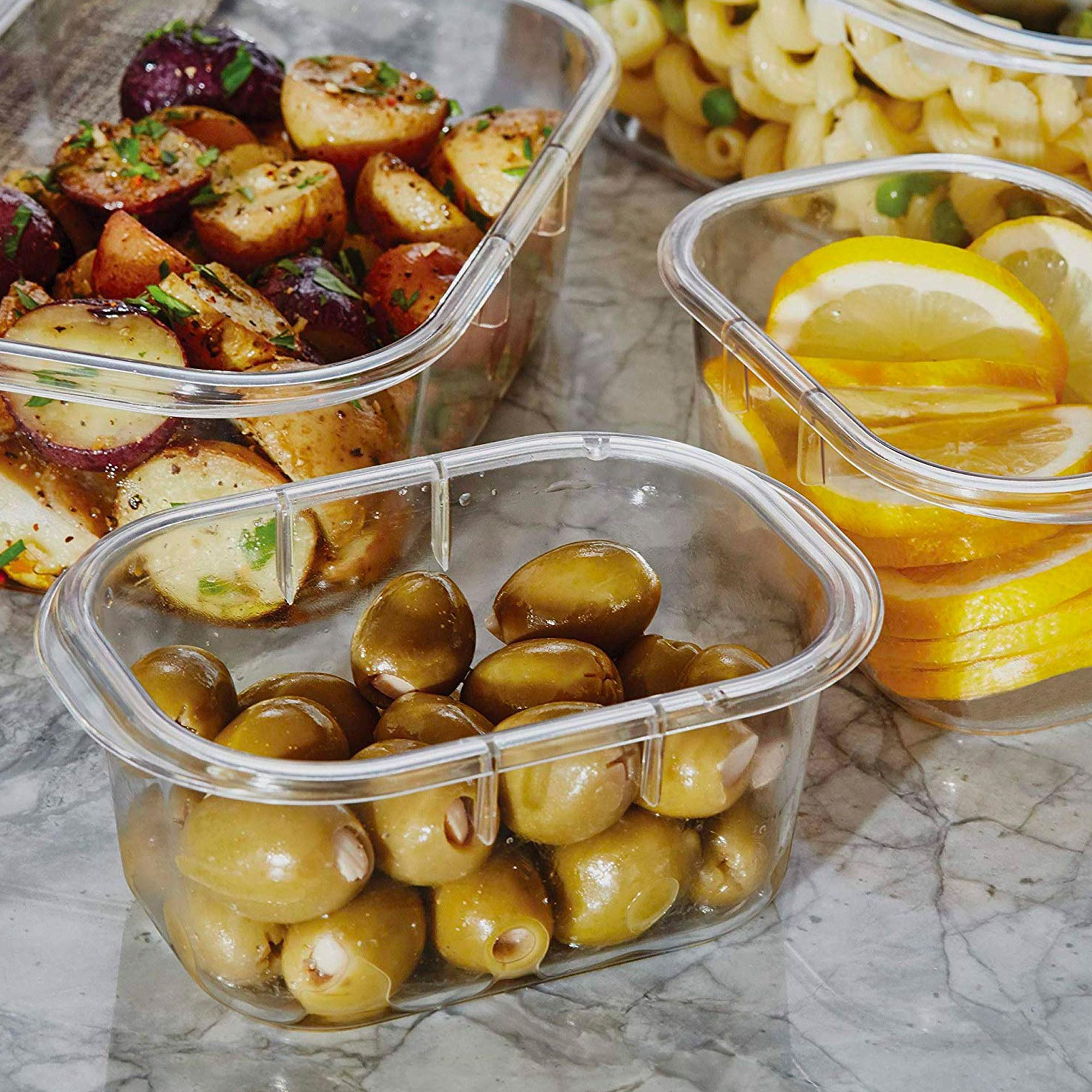 The glass food storage set