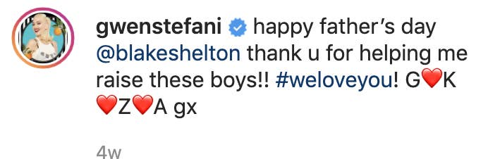 """Gwen's caption """"Thank you for helping me raise these boys! We love you."""""""