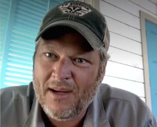 """Blake Shelton saying parenting is """"a scary moment for me"""""""