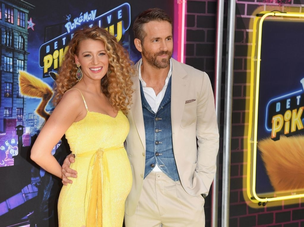 "Ryan Reynolds and a pregnant Blake Lively on ""Detective Pikachu"" red carpet"