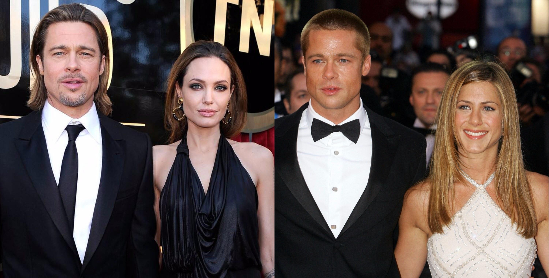 Brad Pitt & Angelina Jolie/ Brad Pitt & Jennifer Aniston