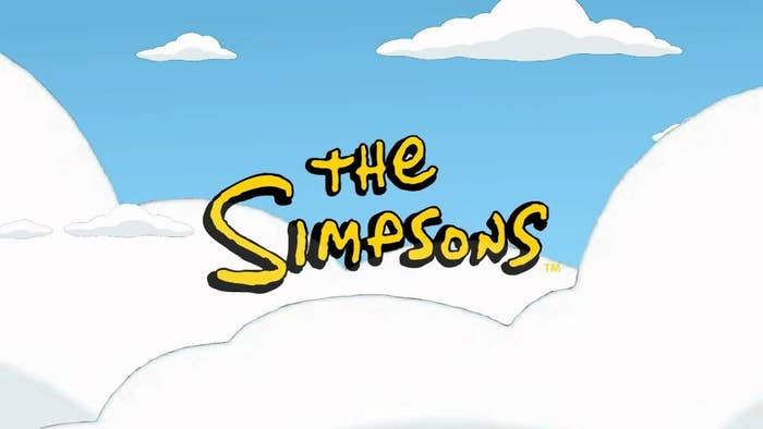 """""""The Simpsons"""" title sequence in the clouds."""