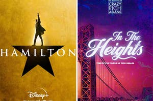 Posters for Hamilton and In the Heights