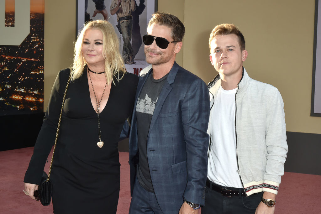 Rob Lowe, Sheryl Berkoff and John Owen Lowe at movie premiere