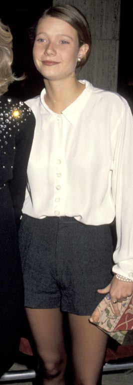 Gwyneth with her mom in Blythe Danner