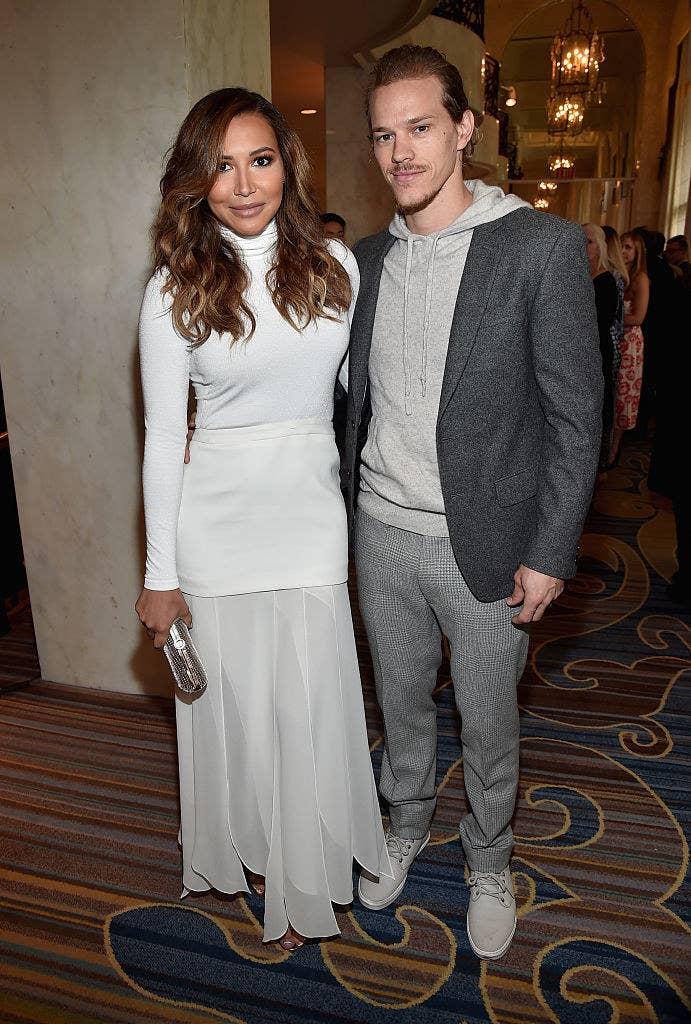 Naya Rivera and Ryan Dorsey at an event