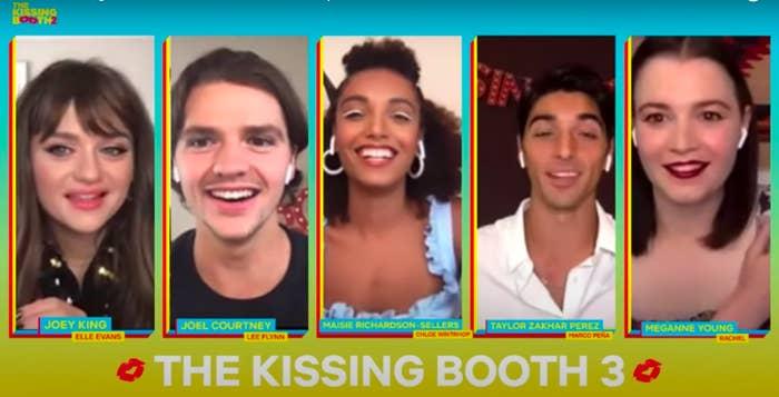 The cast during #TKBFanFest livestream