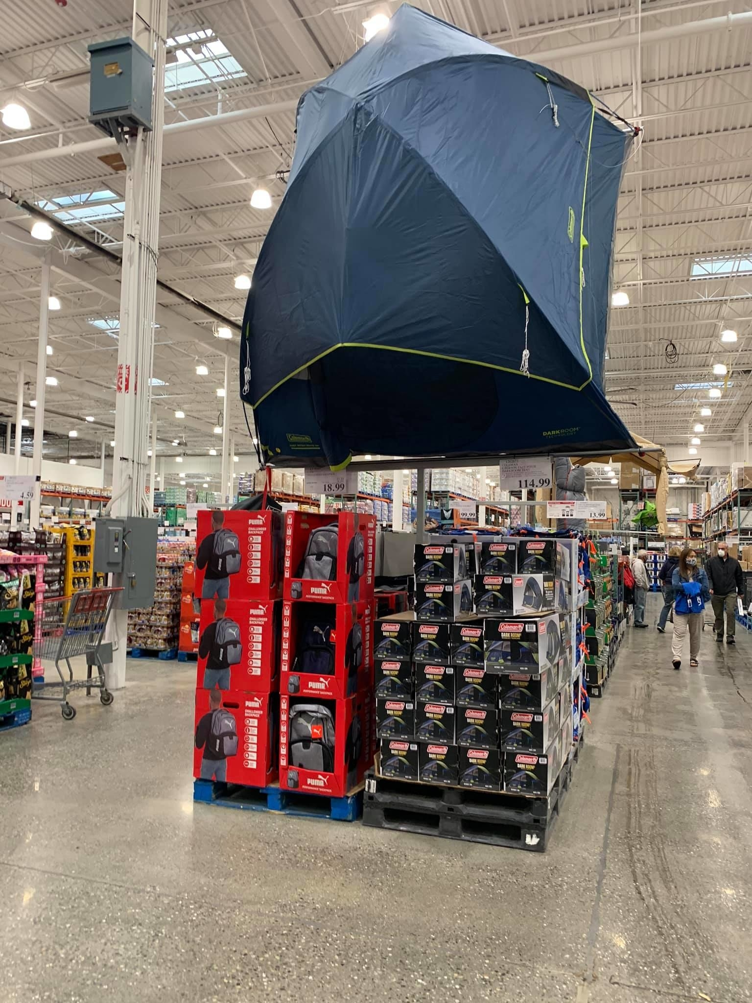 Camping tents at Costco Alaska