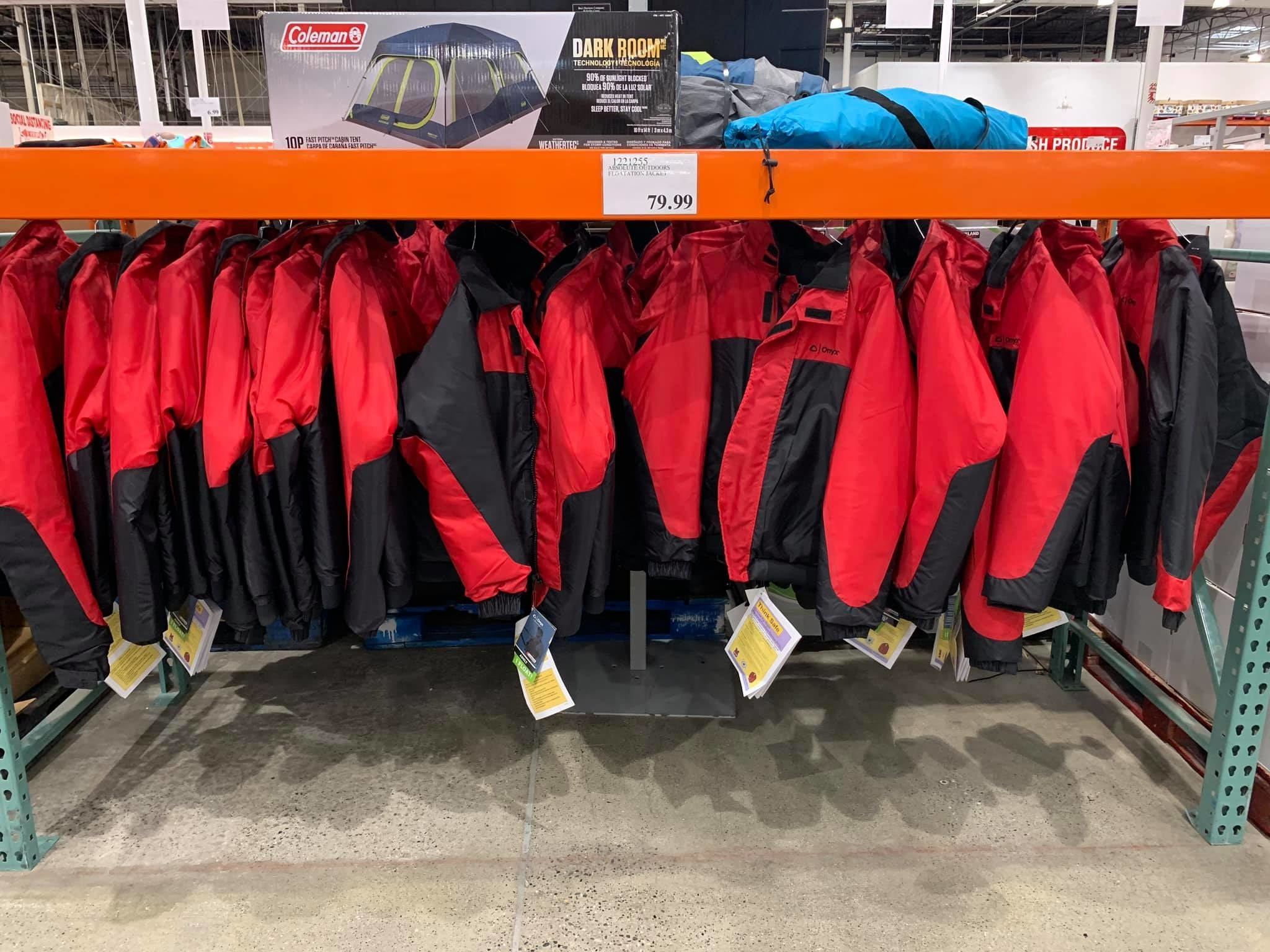 Float coats at Costco Alaska