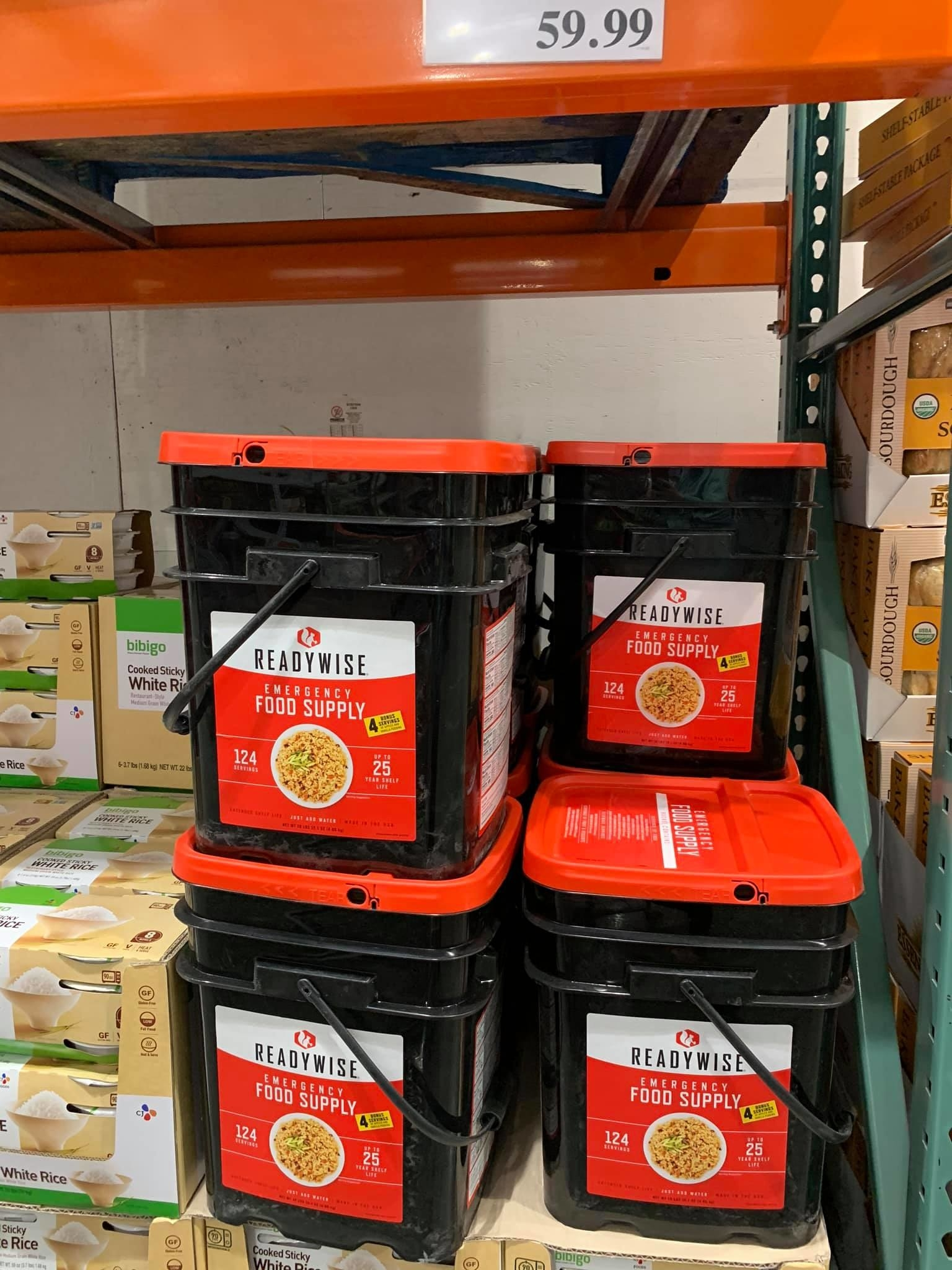 "Shelf-stable ""emergency food supply"" at Costco Alaska"