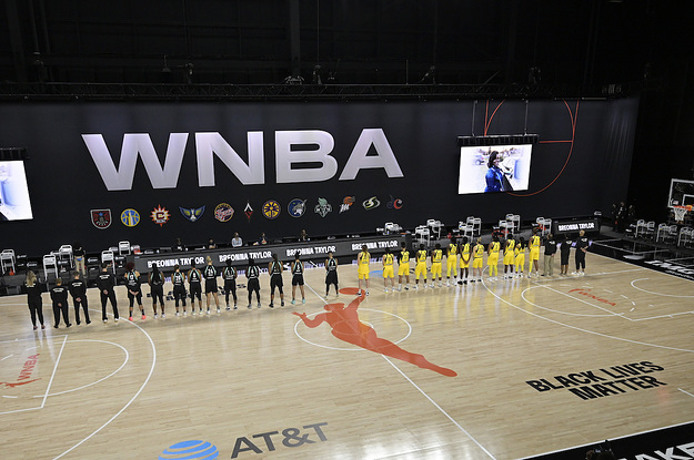 WNBA Players Didn't Kneel During The National Anthem — They Walked Out