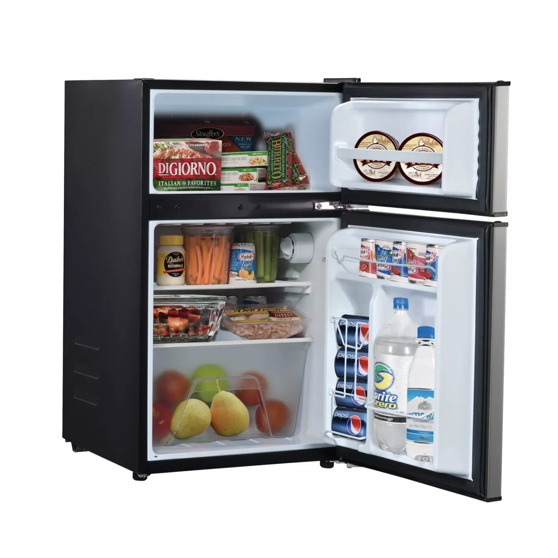 the black mini fridge