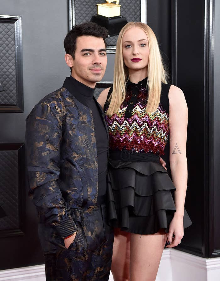 Joe and Sophie on red carpet