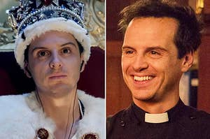 Andrew Scott in Sherlock and Fleabag