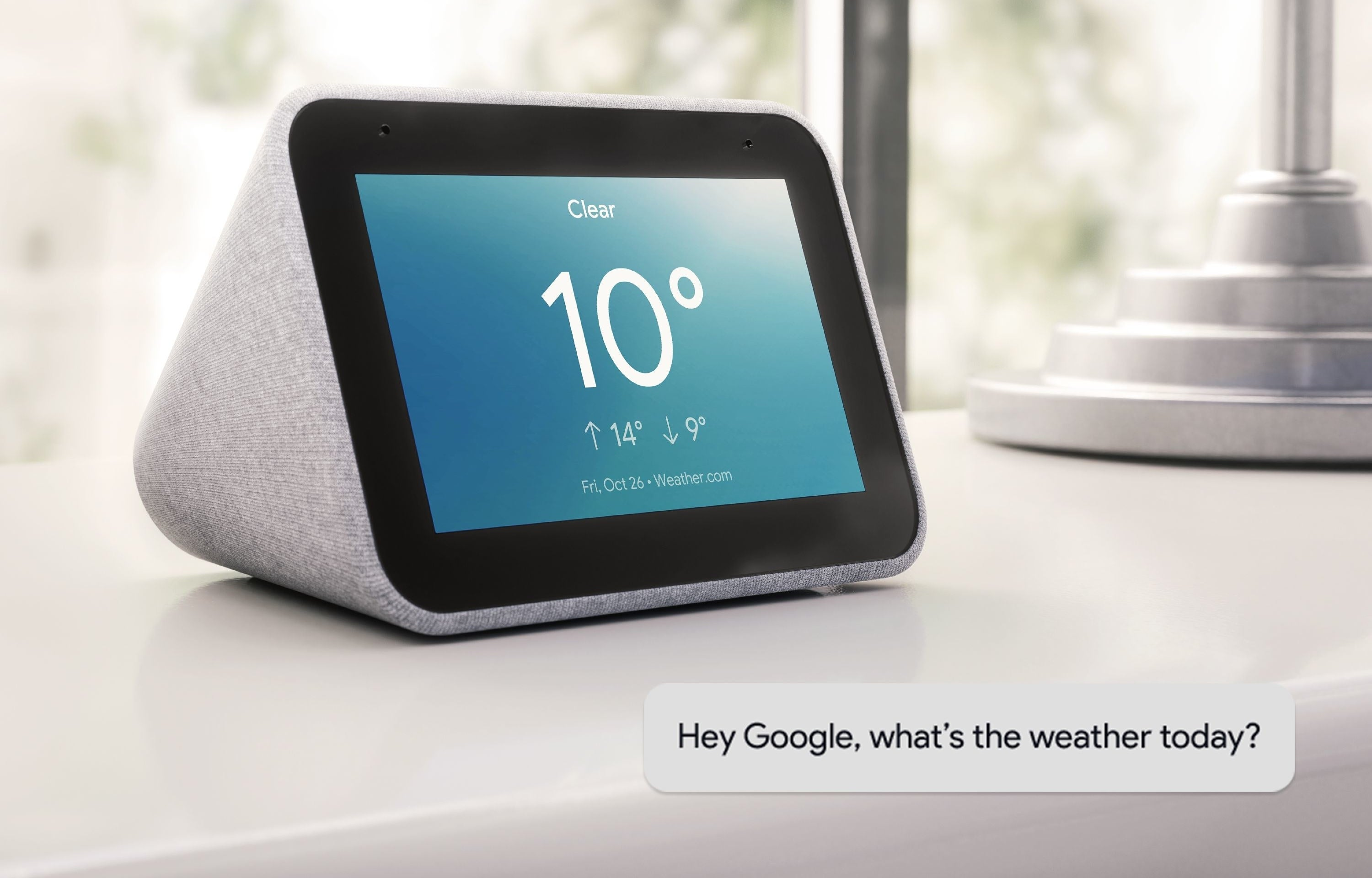 the smart clock with the temperature written on it