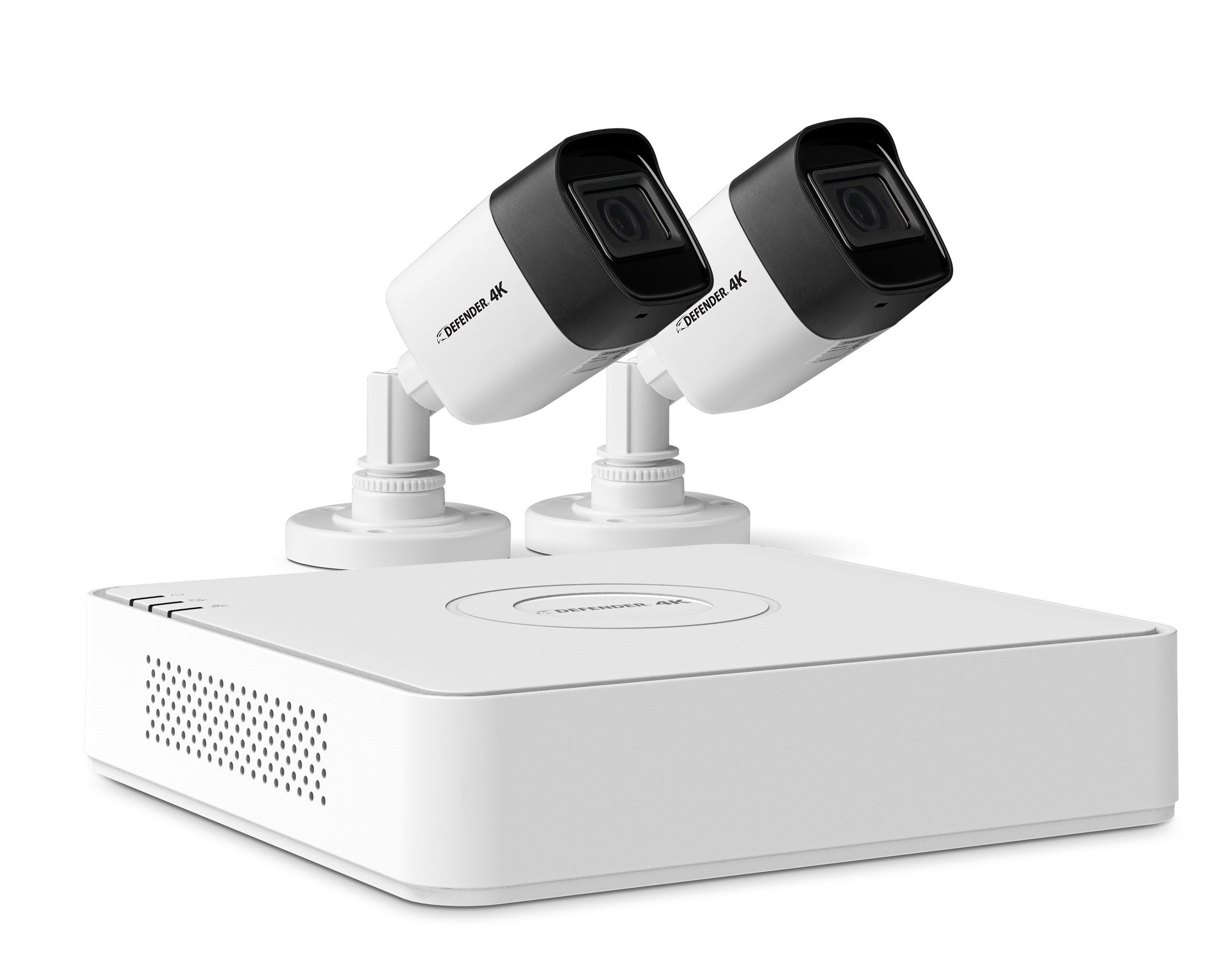 the base and two cameras of the security system