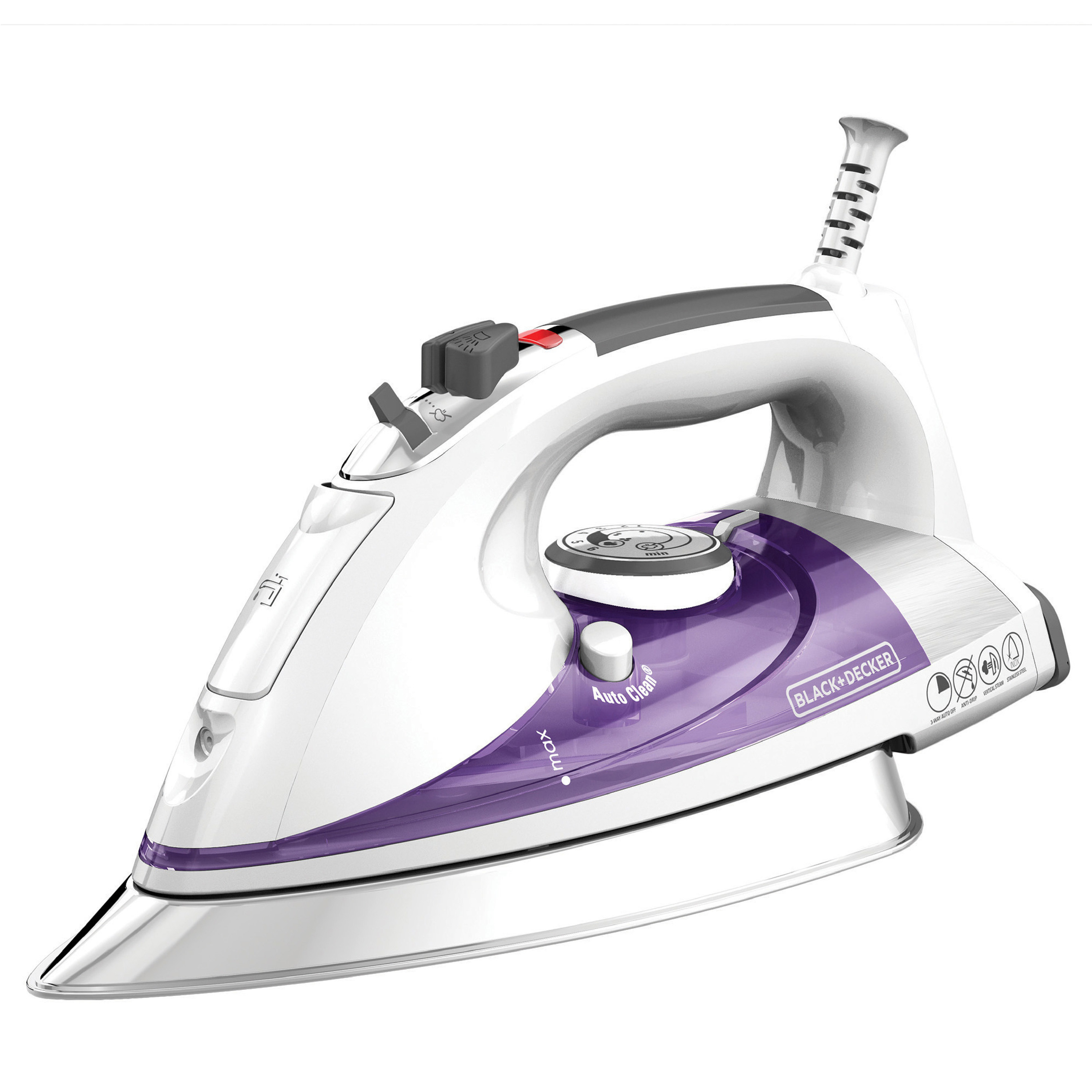 the white and purple iron