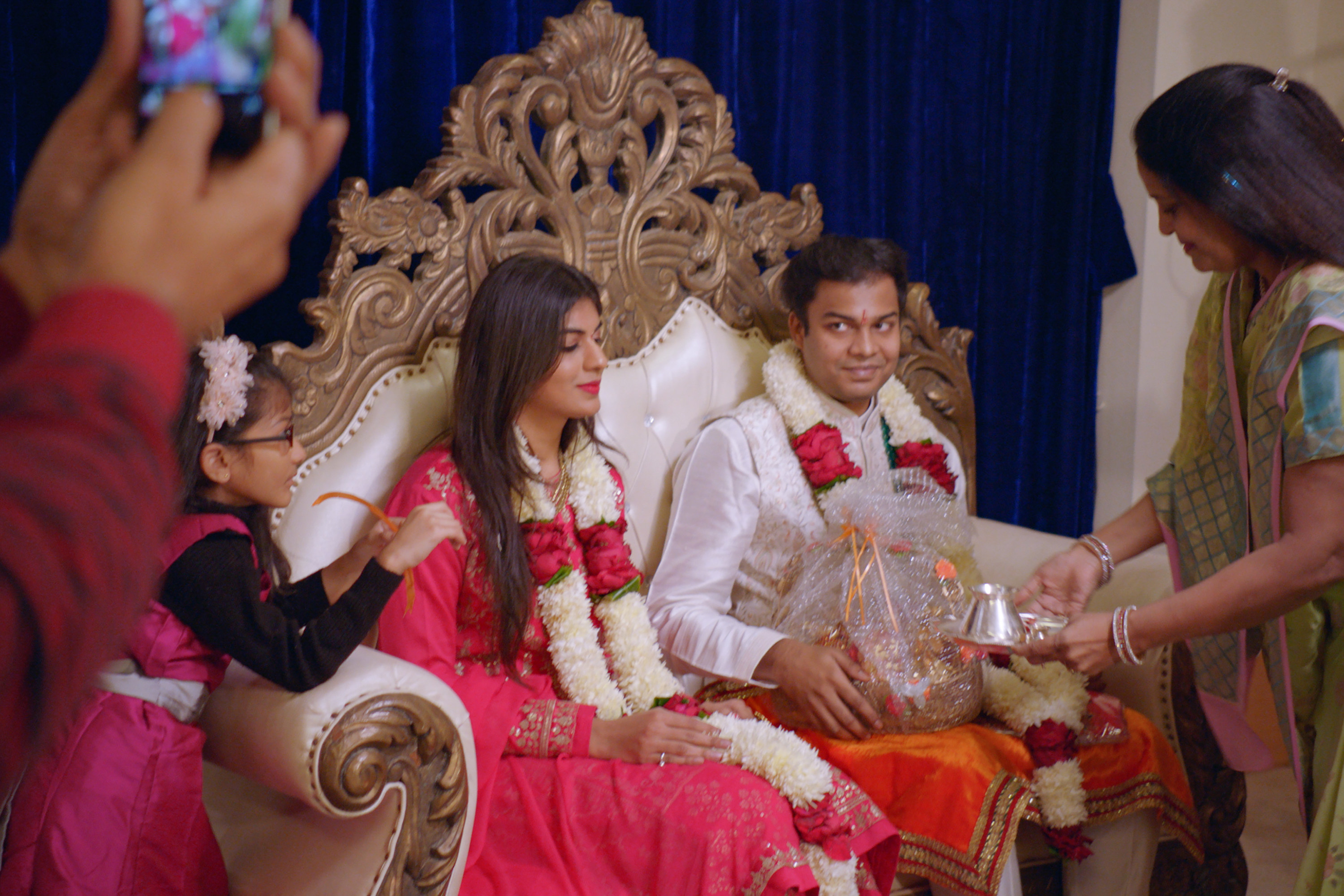 Akshay and Radhika at a pre-engagement ceremony