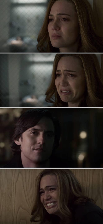 Rebecca seeing Jack's lifeless body in the hospital