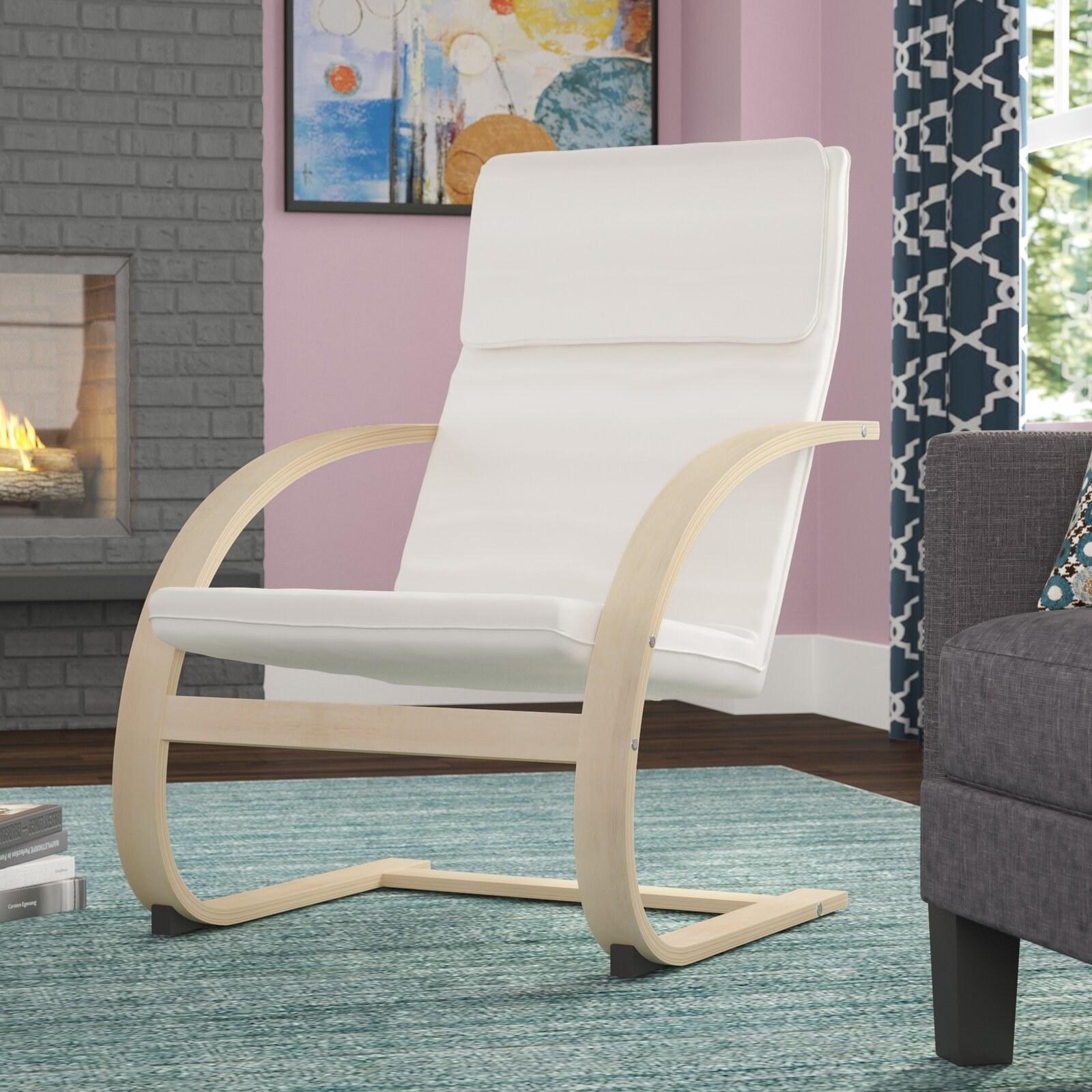 Rocking chair in mocha walnut