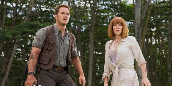 Bryce Dallas Howard and Chris Pratt in Jurassic World