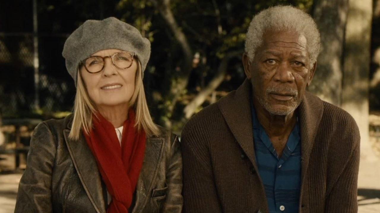 Morgan Freeman as Alex sits next to long-time wife, Ruth (Diane Keaton).