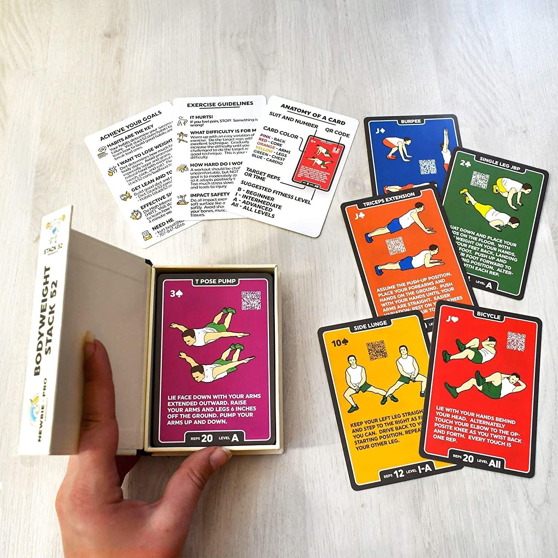 A flatlay of the cards sprawled on a table