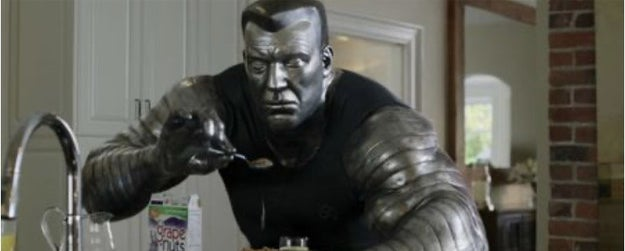 Colossus eating cereal