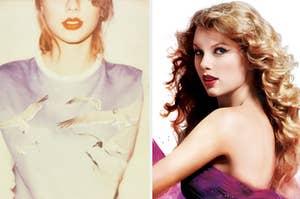 Taylor's 1989 album cover and her Speak Now album cover