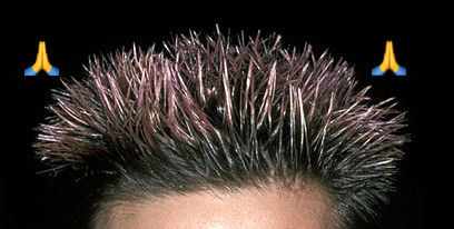 A close-up shot of Freddie Prinze Jr.'s lavender frosted tips.