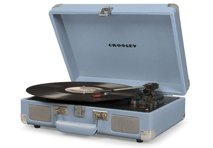 The Crosley Electronics Cruiser Deluxe Turntable in tourmaline