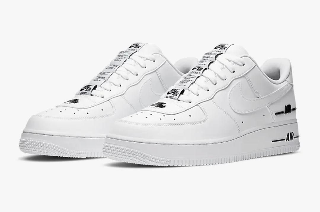 All white Nike Air Force 1 '07