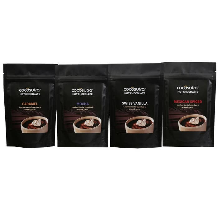 Packaging of the hot chocolate blends