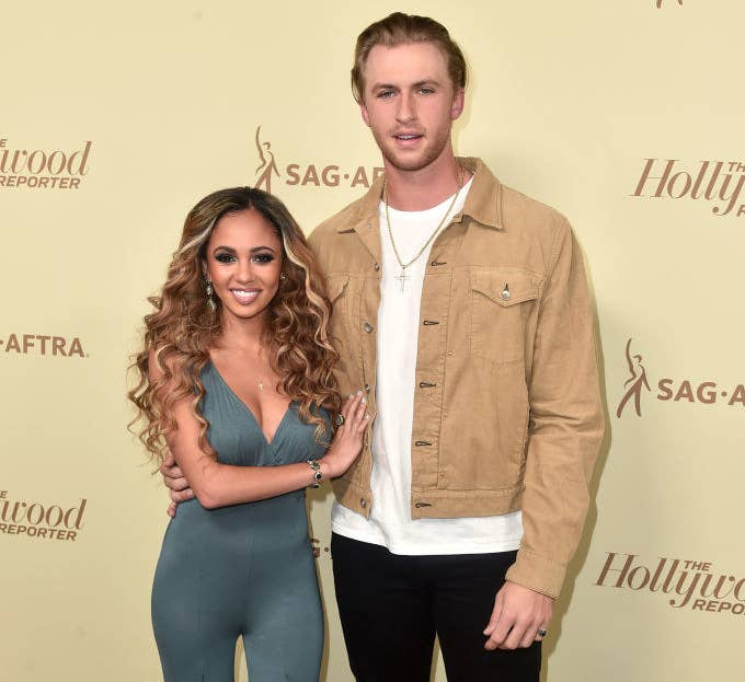 Vanessa Morgan and Michael Kopech together on the red carpet.