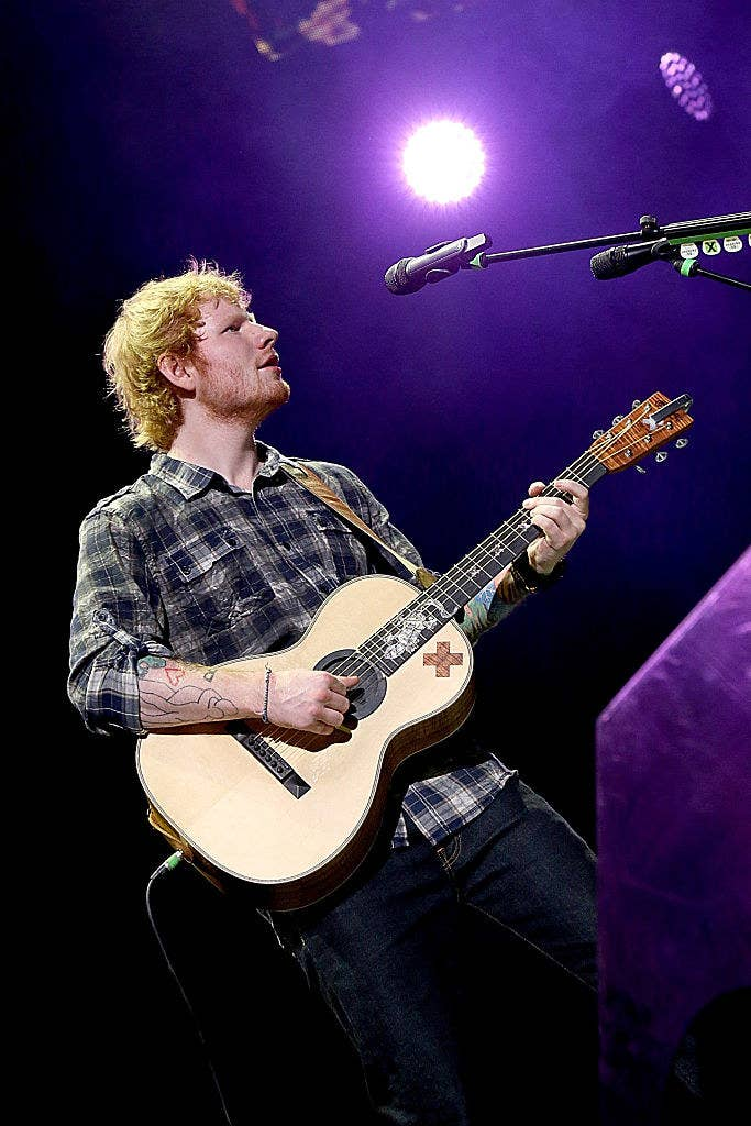 Ed Sheeran on tour in 2015