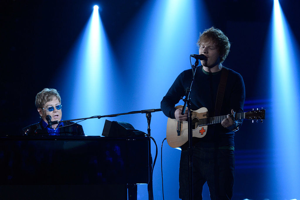 """Ed and Elton John, who helped Ed during his """"rough patch"""""""