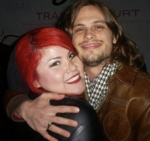 A fan with Matthew Gray Gubler