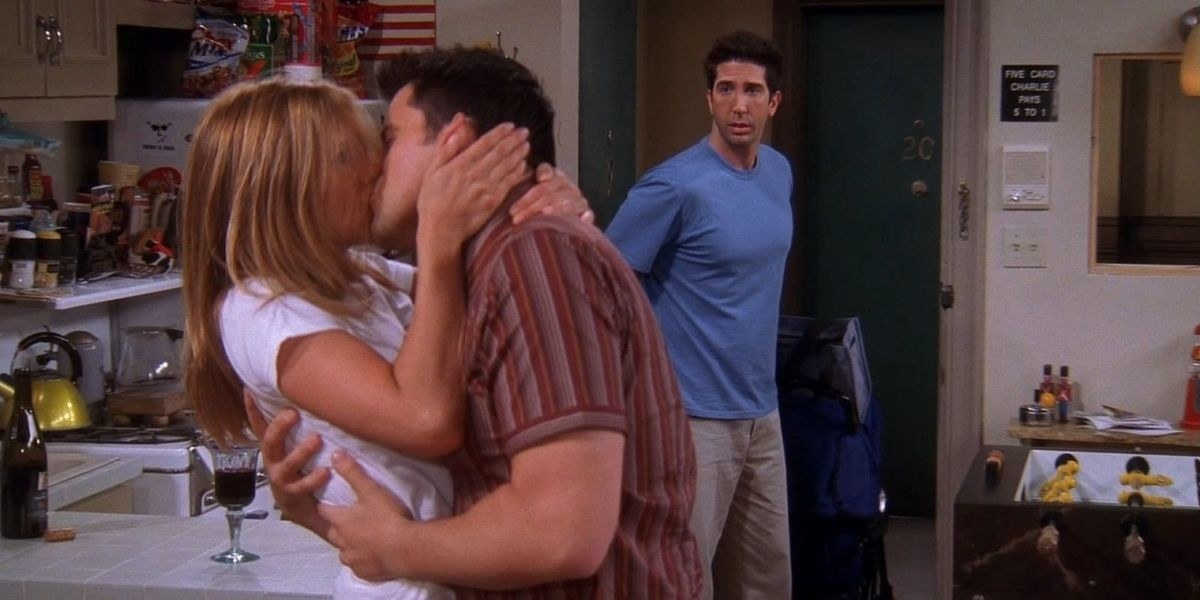 Ross walking in on Rachel and Joey kissing