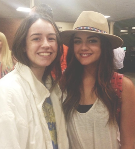 A fan with Lucy Hale