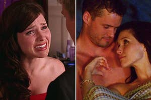 Brooke Davis crying and Brooke with Julian in One Tree Hill