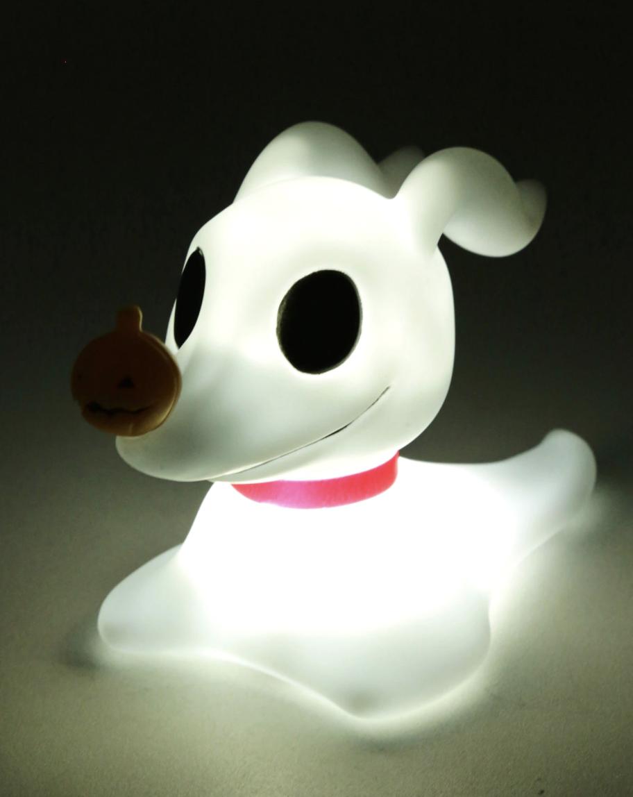 a glowing, lit-up zero lamp