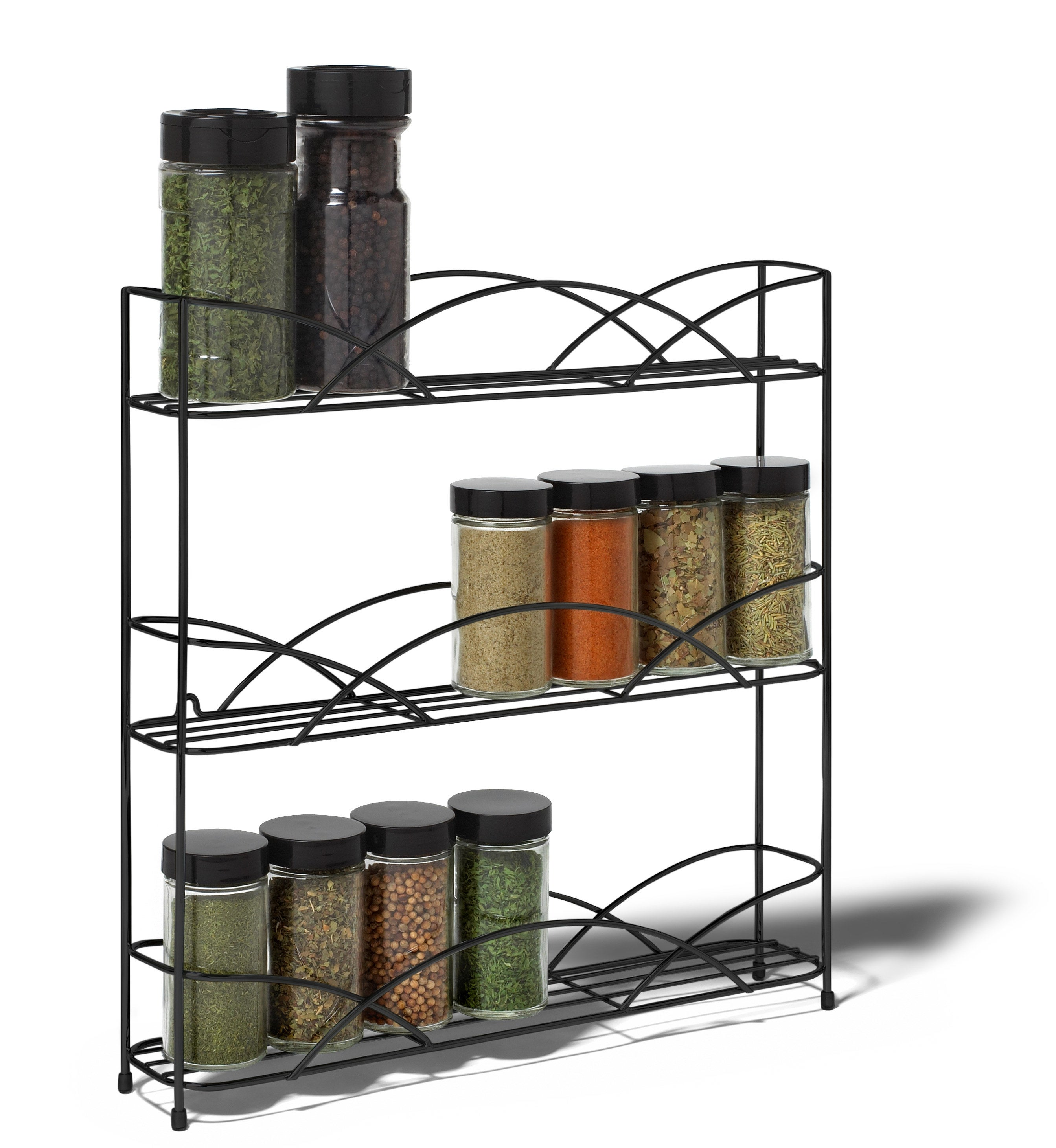 The black wire spice rack