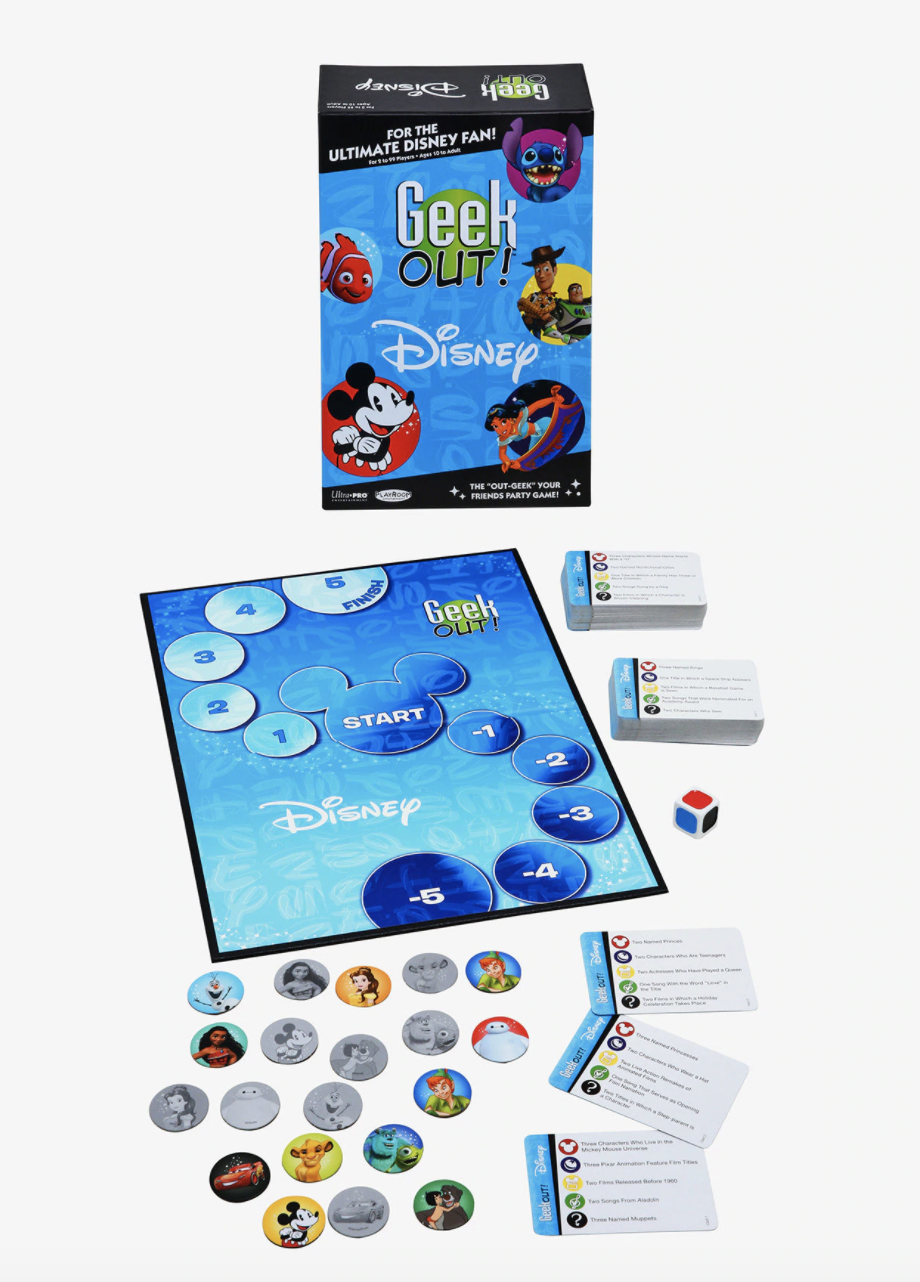 the board game featuring many different characters and trivia cards