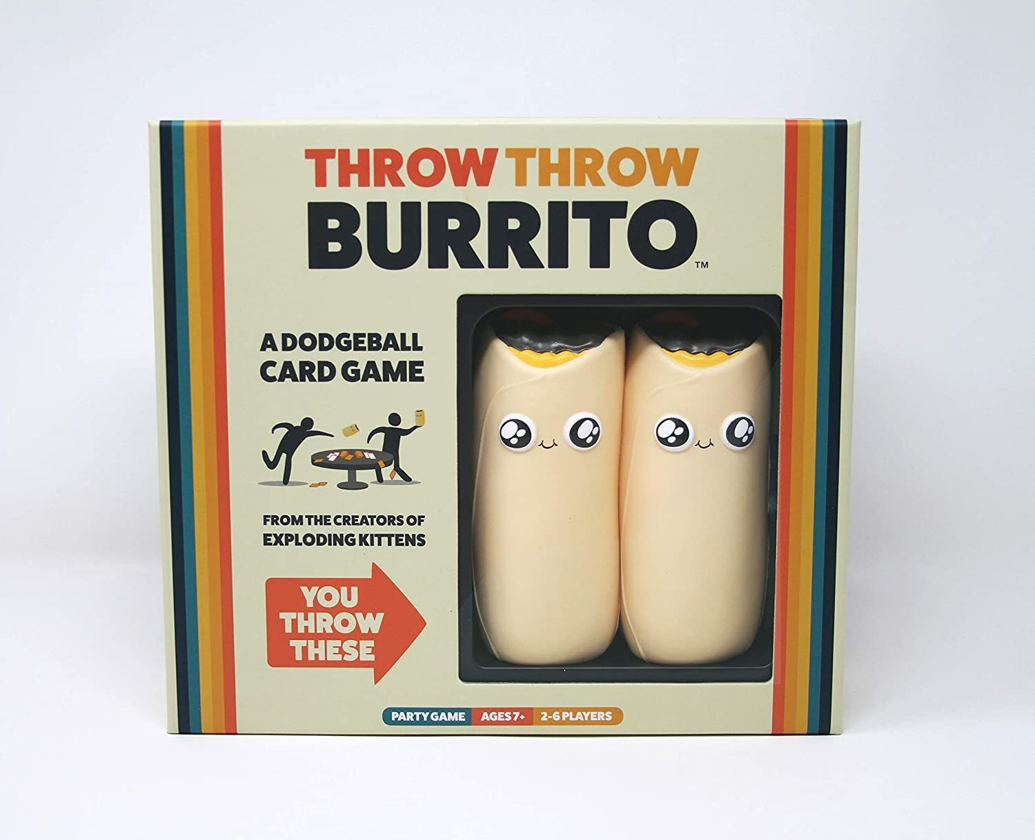 The game box, which shows two plush burritos inside