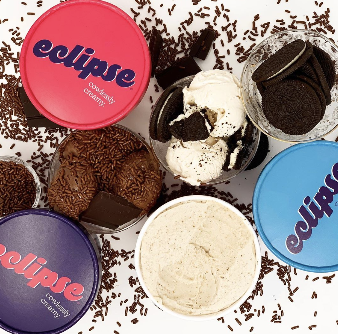 Eclipse ice cream in different flavors