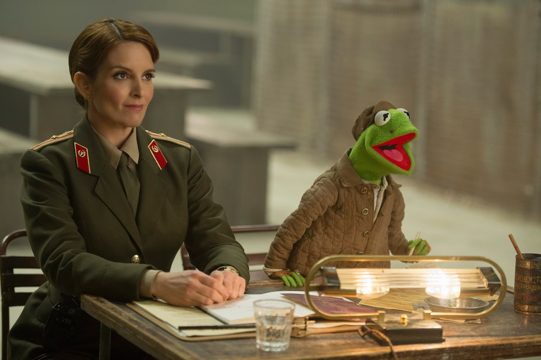 Tina Fey dressed as a Russian officer