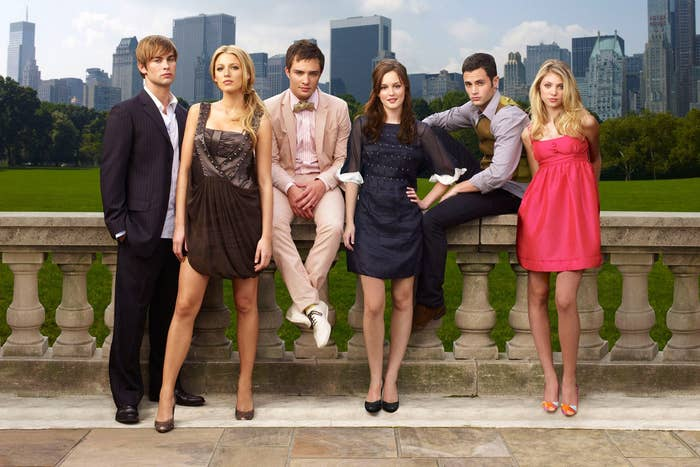 """Gossip Girl"" characters against New York backdrop"